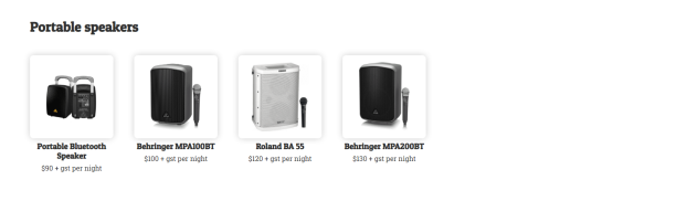 Northern beaches pa hire portable speakers