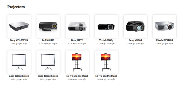 Northern beaches pa hire projectors